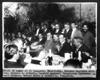 Sitio de honor en el Banquete, Eduardo Hay, Gustavo Espinosa Mireles, Jacinto B. Treviño, Candido Aguilar, Venustiano Carranza, Alvaro Obregon, Rafael Nieto e Ignacio L. Pesqueira.